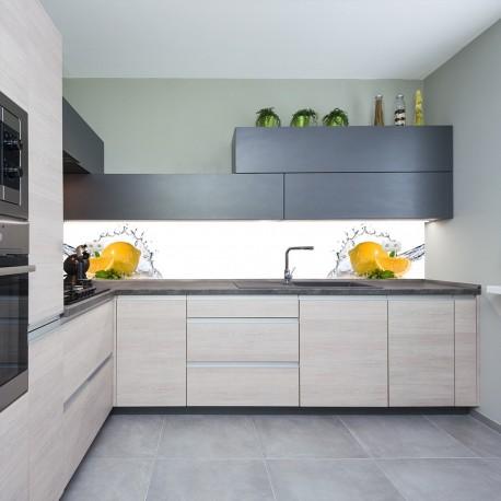Panel szklany do kuchni orzeźwiająca cytryna