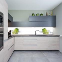 Panel szklany do kuchni orzeźwiająca limonka
