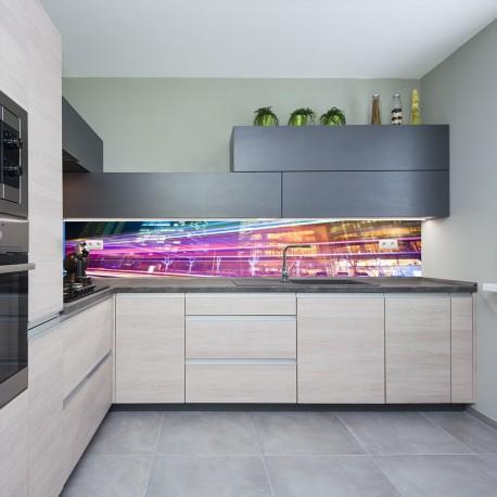 Panel szklany do kuchni ślady świateł