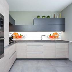 Panel szklany do kuchni orzeźwiającego grejpfrutu