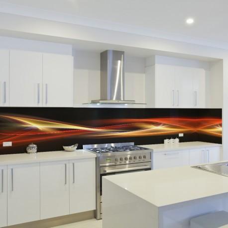 Panel szklany do kuchni ognista fala