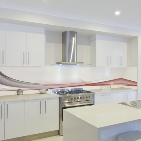 Panel szklany do kuchni bordowa fala