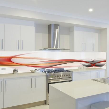 Panel szklany do kuchni gorąca fala