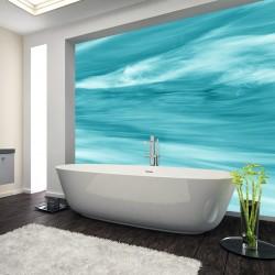 Panel szklany do łazienki  płynąca fala