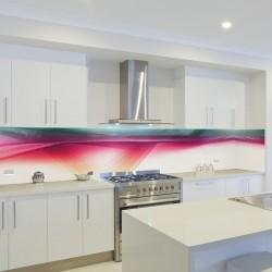 Panel szklany do kuchni kolorowa zorza