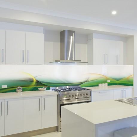 Panel szklany do kuchni wiosenna fala