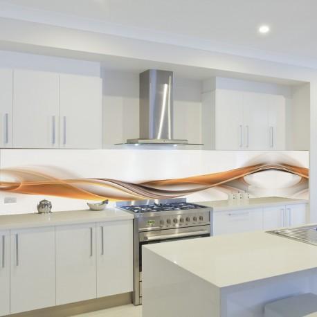 Panel szklany do kuchni karmelowy zamsz