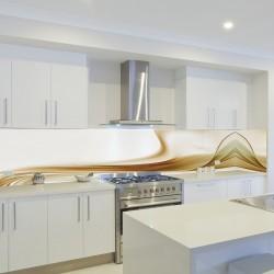 Panel szklany do kuchni beżowy kaszmir
