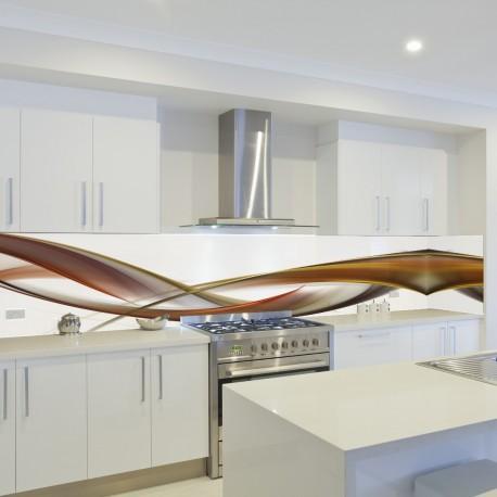 Panel szklany do kuchni kawowy brąz