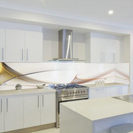 Panel szklany do kuchni abstrakcyjna fala