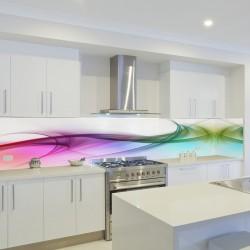 Panel szklany do kuchni kolory tęczy