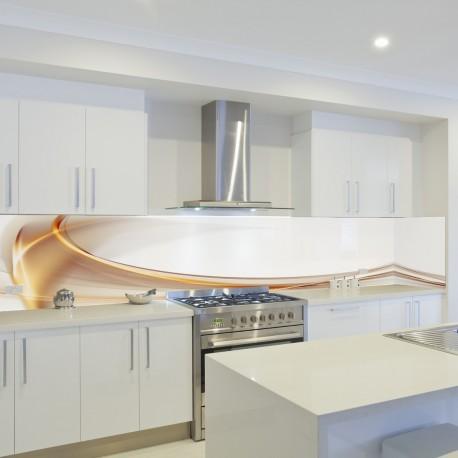 Panel szklany do kuchni złocista morela