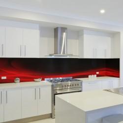 Panel szklany do kuchni ognista czerwień
