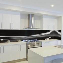Panel szklany do kuchni czarna perła