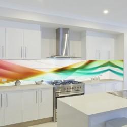 Panel szklany do kuchni abstrakcyjna kompozycja
