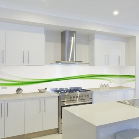 Panel szklany do kuchni limonkowa fala