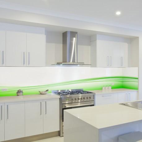 Panel szklany do kuchni jabłkowa zieleń