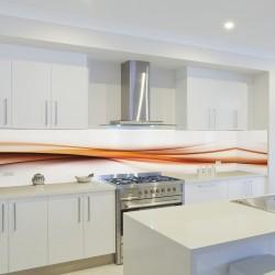 Panel szklany do kuchni pomarańczowa fala