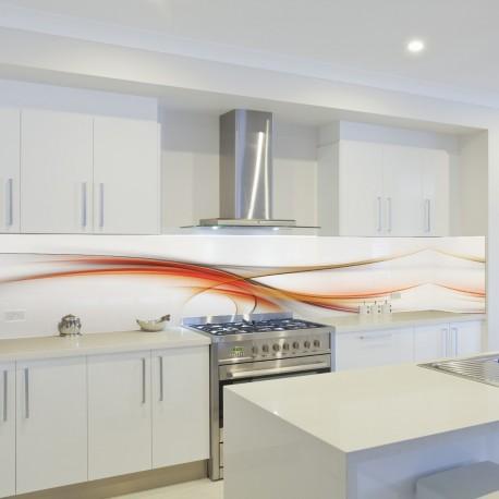 Panel szklany do kuchni ciepła fala