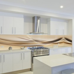 Panel szklany do kuchni fala latte macchiato