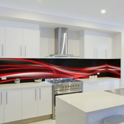 Panel szklany do kuchni fala 1