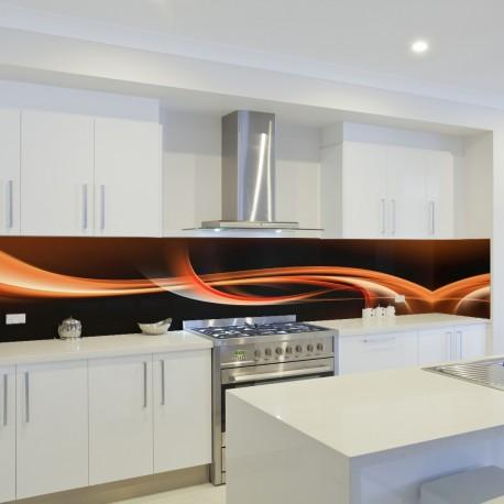 Panel szklany do kuchni fala 2