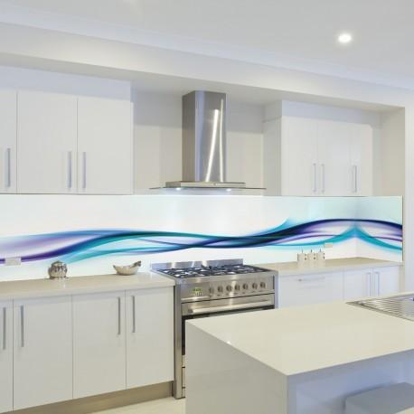 Panel szklany do kuchni fala 3