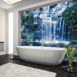 Panel szklany  do łazienki magiczny wodospad