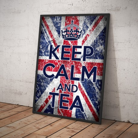 Plakat KEEP CALM AND TEA