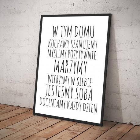 Plakat W TYM DOMU