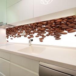 Panel szklany do kuchni ziarna kawy