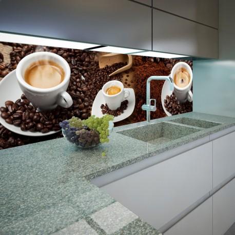 Panel szklany do kuchni filiżanki kawy