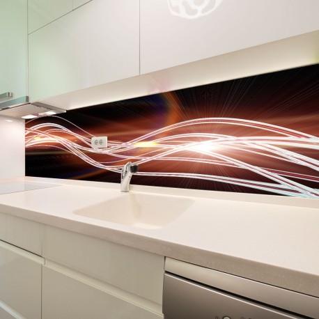 Panel szklany do kuchni futurystyczna fala