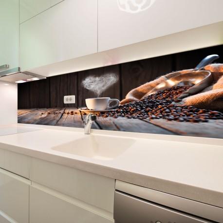 Panel szklany do kuchni tradycyjny kubek kawy