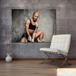 Obraz szklany kobieta na siłowni 4