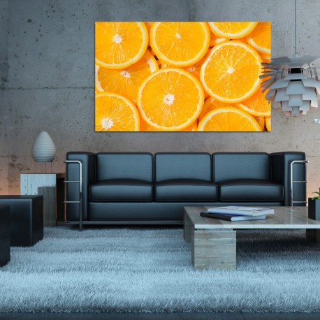 Obraz szklany pomarańcze