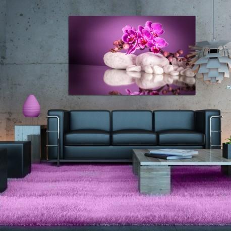 Obraz szklany różowe orchidee