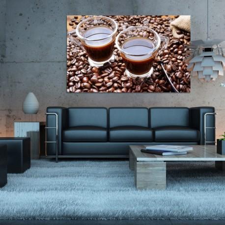 Obraz szklany czarna kawa