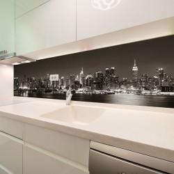 Panel szklany do kuchni Manhattan nocą