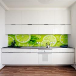 Panel szklany do kuchni plasterki cytryny