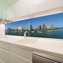 Panel szklany do kuchni słoneczna Marina