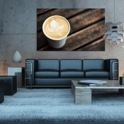 Obraz szklany kawa art latte