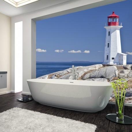Panel szklany do łazienki latarnia morska