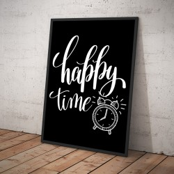 Plakat HAPPY TIME czarny