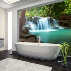Panel szklany do łazienki wodospad w Tajlandii
