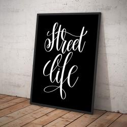 Plakat STREET LIFE czarny