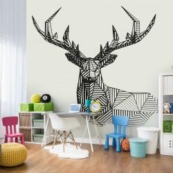 Fototapeta do pokoju dziecka jeleń geometryczny