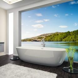 Panel szklany do łazienki dzika zatoka