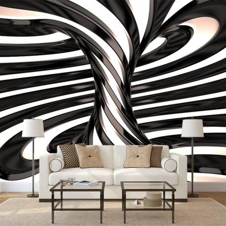 Fototapeta do salonu czarno biały wir