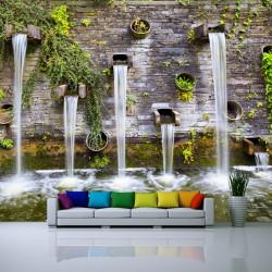 Fototapeta do salonu ściana z wodospadami